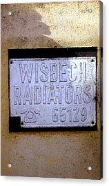 Wisbech Radiators 2 Acrylic Print by Jez C Self