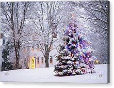 Wiscasset Maine Christmas Acrylic Print by Benjamin Williamson