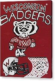 Wisconsin Badgers Acrylic Print