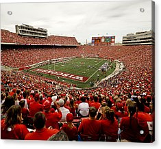 Wisconsin Badgers Play In Camp Randall Stadium Acrylic Print by Relpay Photos