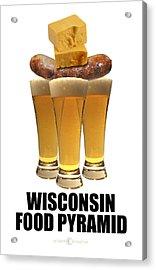 Wisconsin Food Pyramid Acrylic Print