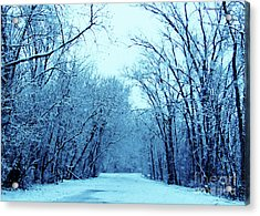 Wisconsin Frosty Road In Winter Ice Acrylic Print