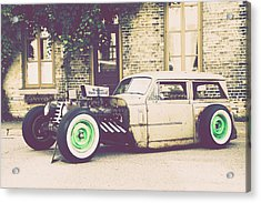 Acrylic Print featuring the photograph Wisconsin State Journal Ratrod by Joel Witmeyer
