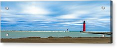 Wisconsin Winter Lakefront Acrylic Print