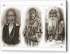 Wisdom - Such A Long Journey - Sepia Acrylic Print by Steve Harrington