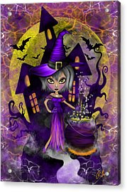 Wisdom Witch Fantasy Art Acrylic Print
