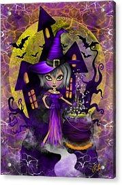 Wisdom Witch Fantasy Art Acrylic Print