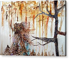 Wise Guardian Of The Forest Acrylic Print