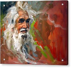 Wise Old Man Acrylic Print by Andrew Judd