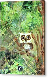 Wise Old Owl Acrylic Print by Jennifer Kelly