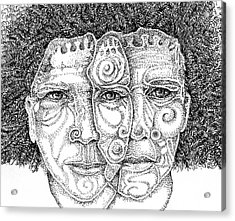 Wise Words-two Heads Are Better Than One Acrylic Print