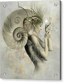 Wish On A Pearl Acrylic Print by Ali Oppy