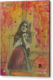 Acrylic Print featuring the mixed media Wish Upon A Star by Desiree Paquette