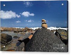 Wishing Rocks Aruba Acrylic Print by Amy Cicconi
