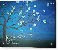 Wishing Tree Acrylic Print by Lori Ulatowski