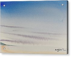 Wisps Of Clouds At Sunset Over A Calm Bay Acrylic Print