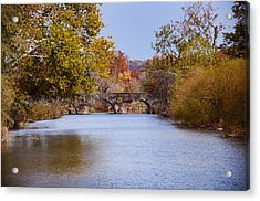 Wissahickon Autumn Acrylic Print by Bill Cannon