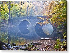 Wissahickon Creek At Bells Mill Rd. Acrylic Print by Bill Cannon