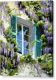 Wisteria In Provence Acrylic Print by Jeanne Rosier Smith