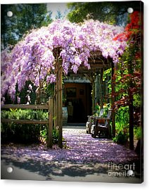 Acrylic Print featuring the photograph Wisteria by Leslie Hunziker