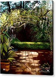 Wisteria Shadows Acrylic Print by Elizabeth Robinette Tyndall