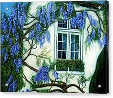 Wisteria Window Acrylic Print