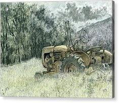 Acrylic Print featuring the drawing Wistful by David King