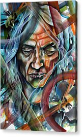 Witchdoctor Acrylic Print by Robert  Nelson