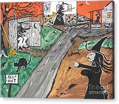 Witches Outhouse Acrylic Print