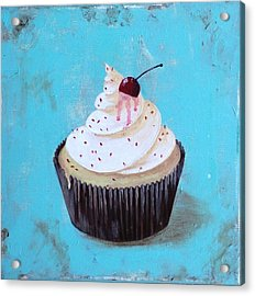 With A Cherry On Top Acrylic Print by T Fry-Green