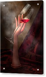 With Glass In Hand Acrylic Print