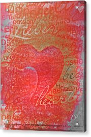 With Heart Acrylic Print