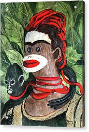 With Love To The Artist Frida Kahlo Acrylic Print