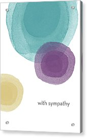 With Sympathy Circles- Art By Linda Woods Acrylic Print