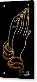 With Trembling. Hands Acrylic Print by Skip Willits
