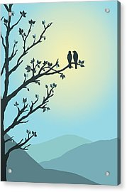 Acrylic Print featuring the digital art With You By My Side by Christina Lihani