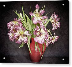 Withered Tulips Acrylic Print