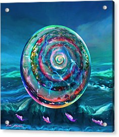 Acrylic Print featuring the painting Withstanding Orby Weather by Robin Moline