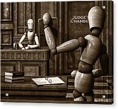 Witness For The Prosecution Acrylic Print by Bob Orsillo