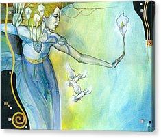 Witness Acrylic Print by Patricia Ariel