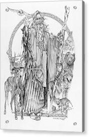 Wizard Iv - Wandering Wiseman - Pax Consensio Acrylic Print
