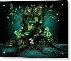 Wizard Stump Acrylic Print by Serena King