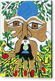 Wizard Tells The Future Acrylic Print by Betty  Roberts