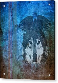 Wolf And Raven Acrylic Print