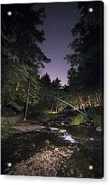 Wolf Creek Starry Night Acrylic Print by Mark Papke