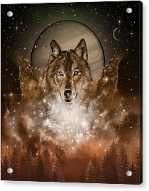 Wolf In Sepia Acrylic Print