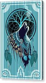 Wolf Indian Shaman Acrylic Print by Sassan Filsoof