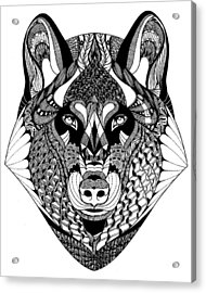 Wolf Acrylic Print by Jan Steinle