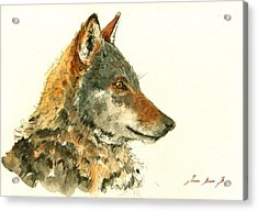 Wolf Watercolor Acrylic Print