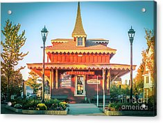 Wolfeboro Station In October Acrylic Print